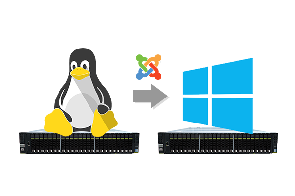 How to migrate Joomla website from Linux to windows server