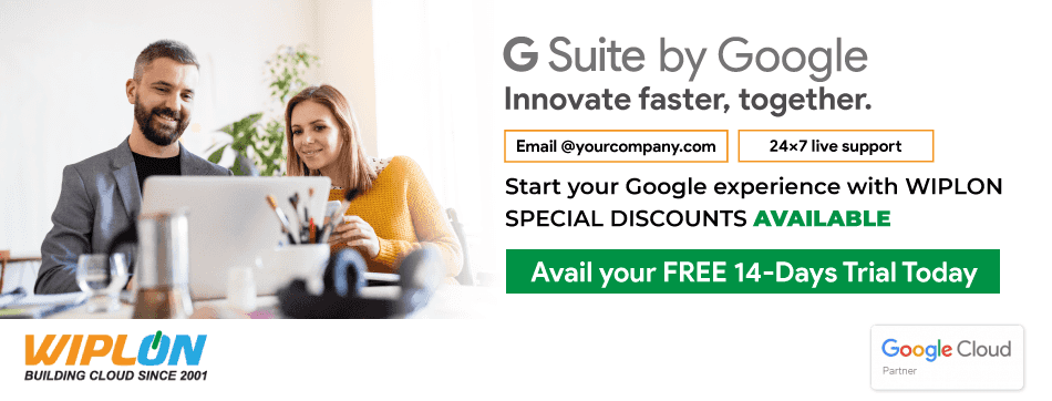 14 days free trial for G Suite