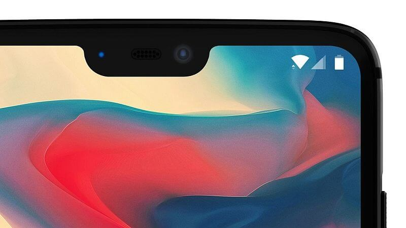 OnePlus 6 with notch screen