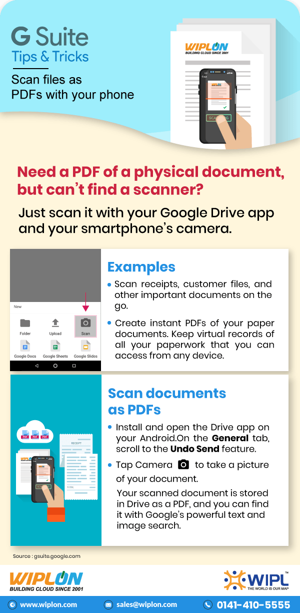 how to scan files as pdfs with phone