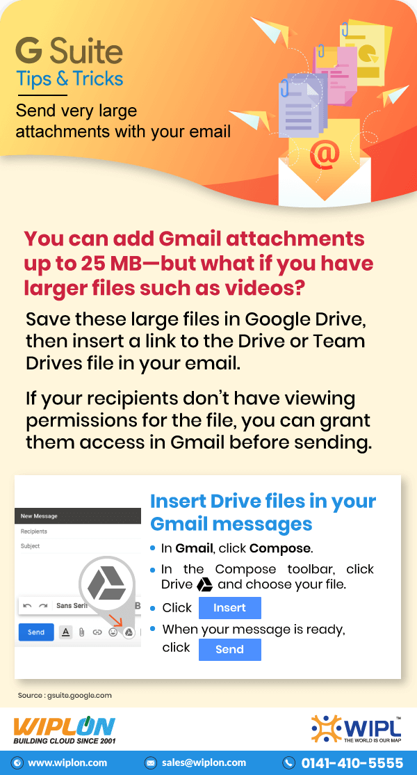 send very large attachments with your email infographics