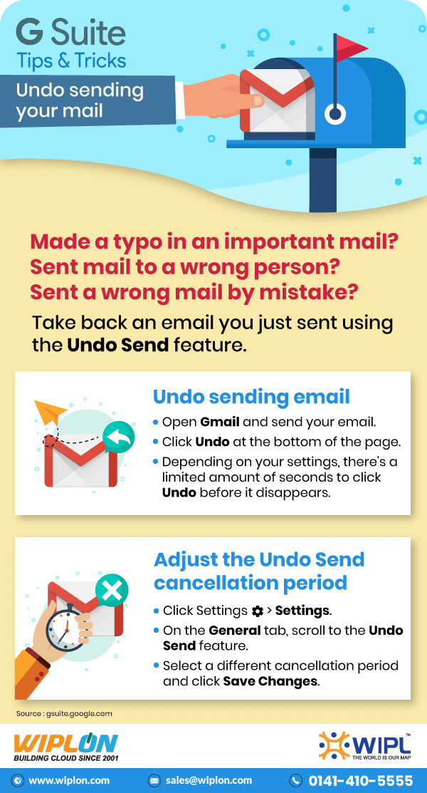 how to undo sent email infographics