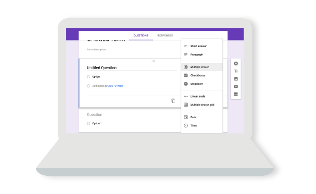 Create a form as easily as creating a document