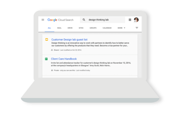 Google Search -- built for G Suite